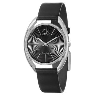 Calvin Klein Women's 'Ridge' Scratch-resistant Stainless Steel Watch