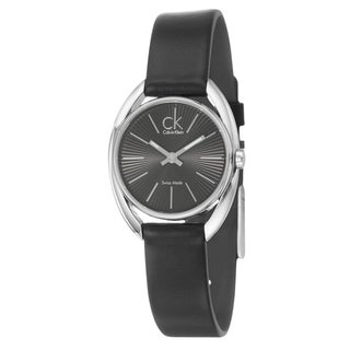 Calvin Klein Women's 'Ridge' Stainless Steel and White Diamond Watch