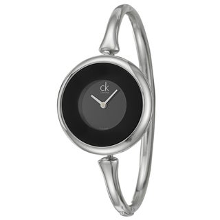 Calvin Klein Women's 'Sing' Black Stainless Steel Watch