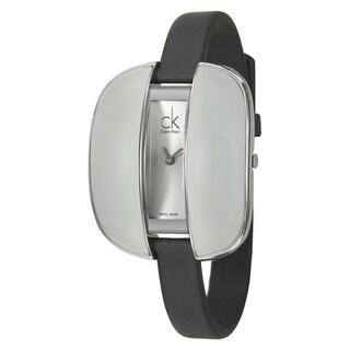 Calvin Klein Women's 'Treasure' Stainless-Steel Watch with Dark Gray Strap