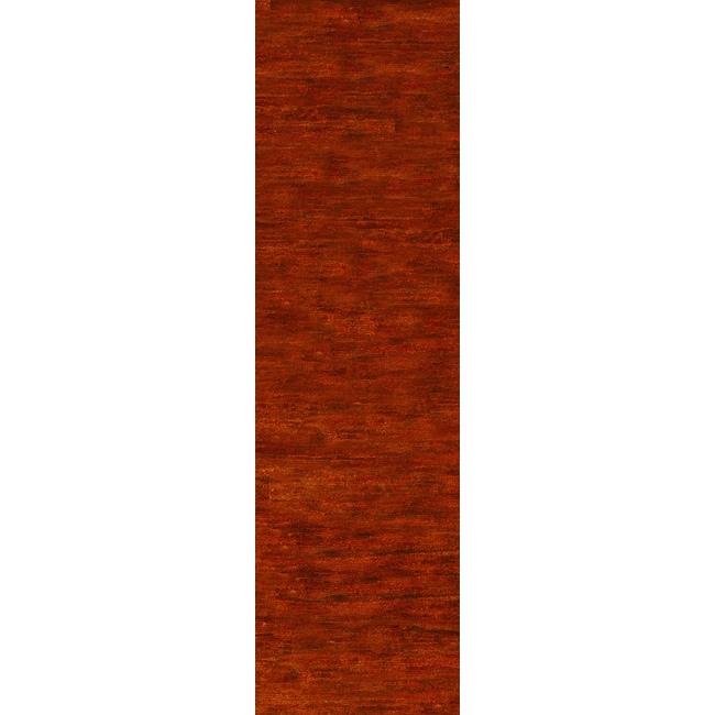 Safavieh Hand-knotted Vegetable Dye Solo Rust Hemp Rug (2'6 x 12')