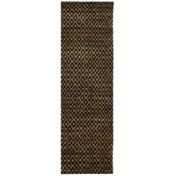 Safavieh Hand-knotted Vegetable Dye Morocco Black/ Gold Rug (2' 6 x 12')
