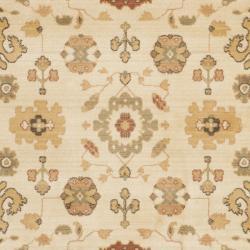 Safavieh Oushak Cream/ Brown Powerloomed Rug (9'6 x 13')