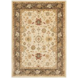Safavieh Oushak Cream/ Brown Powerloomed Rug (9'6 x 13')