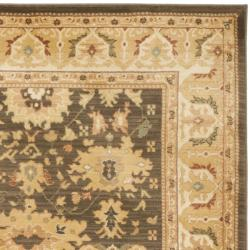 Oushak Brown/ Cream Powerloomed Rug (8' x 11')