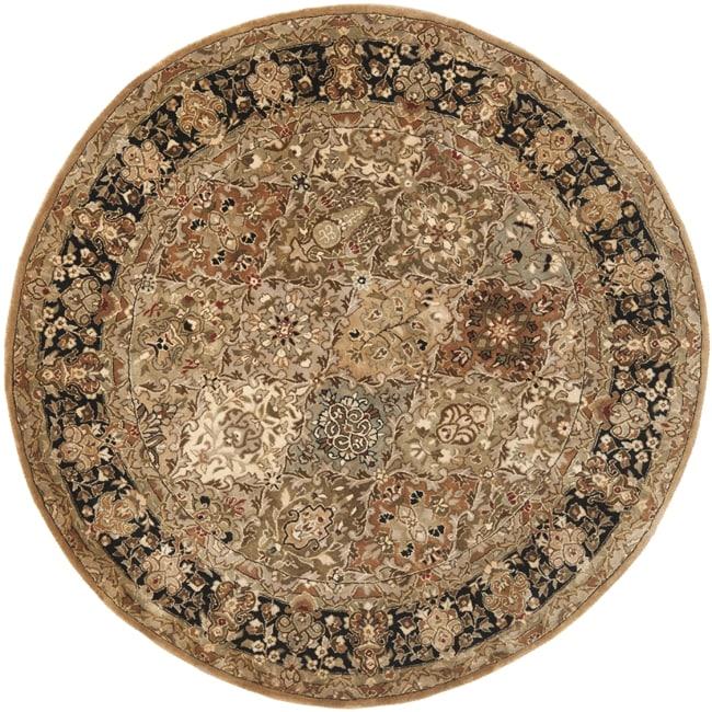 Safavieh Handmade Persian Legend Multi/ Black Wool Rug (3'6 Round)