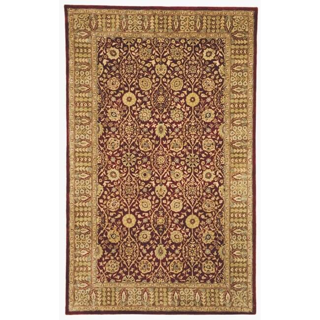 Safavieh Handmade Persian Legend Red/ Light Brown Wool Rug (7'6 x 9'6)