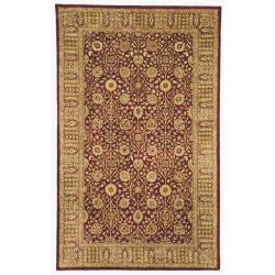 Handmade Persian Legend Red/ Light Brown Wool Rug (7'6 x 9'6)