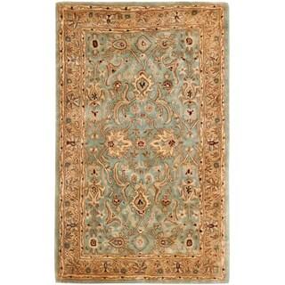 Handmade Persian Legend Blue/ Gold Wool Rug (9'6 x 13'6)