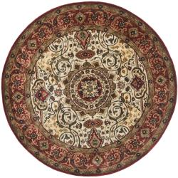 Safavieh Handmade Persian Legend Red/ Ivory Wool Rug (3'6 Round)