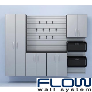 Flow Wall Five Piece Silver Cabinet Set