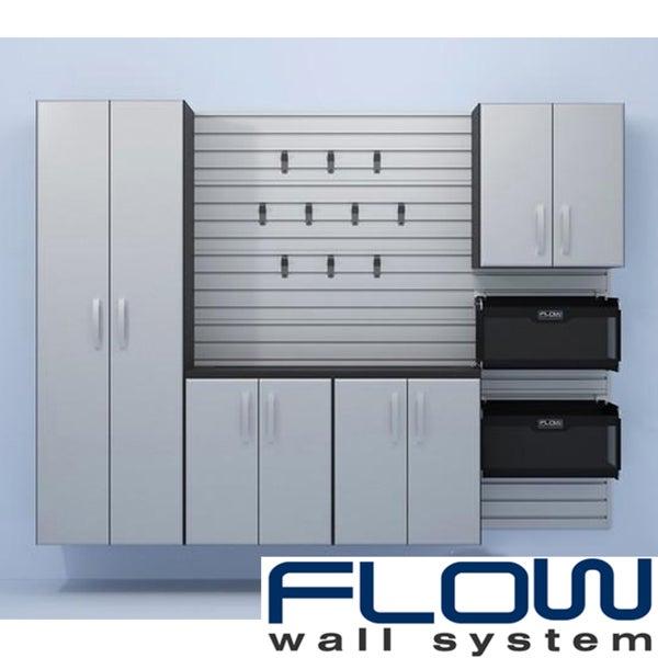 Flow Wall Five Piece Silver Cabinet Set