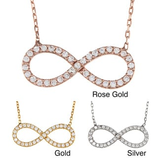 La Preciosa Sterling Silver CZ Infinity Symbol Necklace