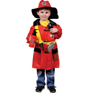 Dress Up America Kids' 'Fire Fighter' Role Play Dress Up Set