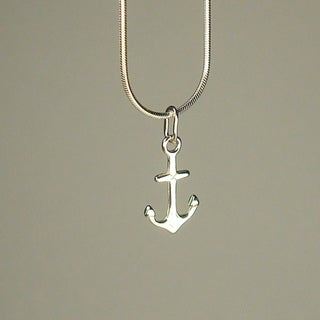 Jewelry by Dawn Anchor Sterling Silver Snake Chain Necklace