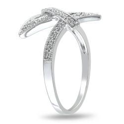 Miadora 10k White Gold 1/8ct TDW Diamond Fashion Ring (G-H, I2-I3)