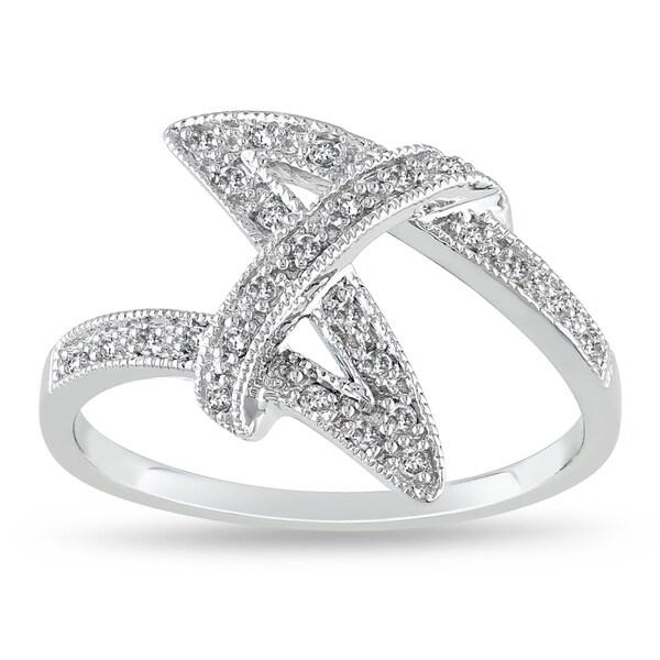 Miadora 10k White Gold 1/8ct TDW Diamond Fashion Ring (G-H, I2-I3)