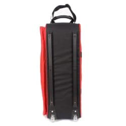 TNT Red/Black Nylon Bowling Roller Bag with Detachable Pouches
