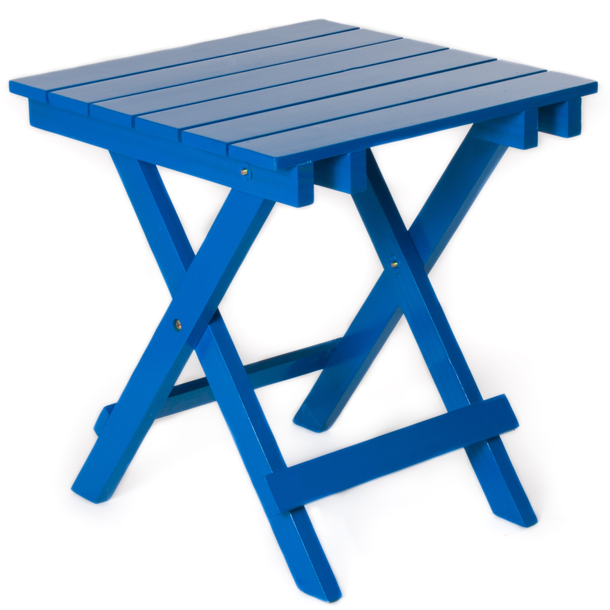 Royal Blue Foldable Side Table
