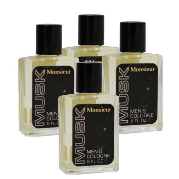 Dana Monsieur Musk Men's 0.5-ounce Cologne Splash (Pack of 4)