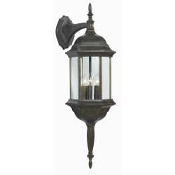 Brubeck Golden Bronze 3-light Lantern Wall Sconce
