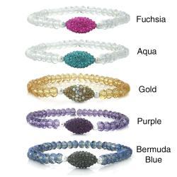 Icz Stonez Crystal and Oval Fireball Stretch Bracelet