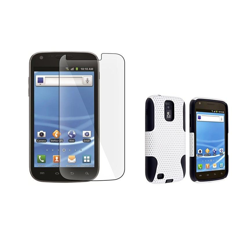 Black/ White Hybrid Case/ Protector for Samsung Hercules T989 T-Mobile
