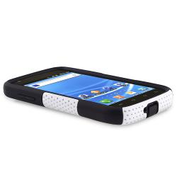 Black/ White Hybrid Case/ Protector for Samsung Hercules T989 T-Mobile