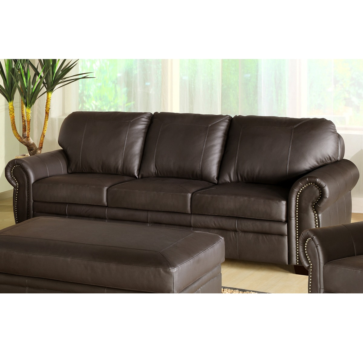 Abbyson Living Signature Italian Leather Sofa