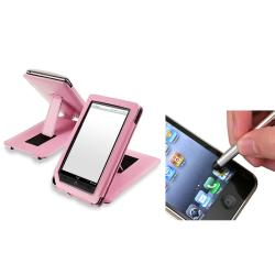 INSTEN Protective Pink Leather Phone Case Cover/ Stylus for Barnes & Noble Nook Color