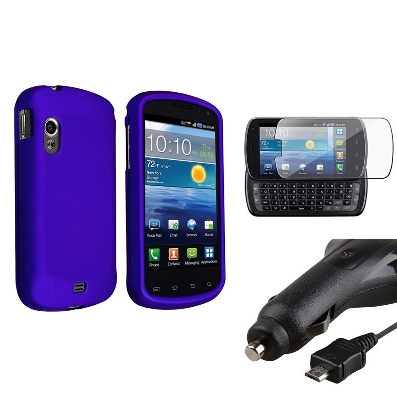 INSTEN Phone Case Cover/ Retractable Car Charger/ Protector for Samsung Stratosphere i405