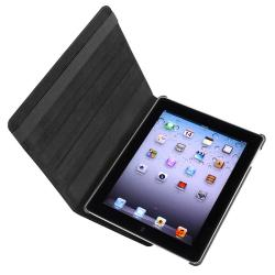Black Swivel Case/ Stylus/ Screen Protector for Apple iPad 2/ 3/ New