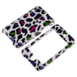 Leopard-Print Case/Mirror LCD Protector for Apple iPod Touch Generation 2/3