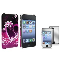 Heart Case/ Mirror Protector for Apple iPod Touch Generation 2/ 3