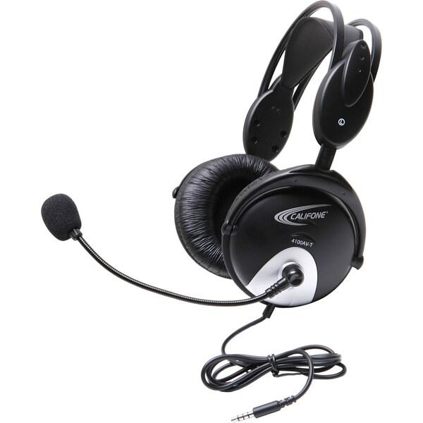 Califone 4100Avt Headset W/ Mic 3Ft To Go Plug Via Ergoguys