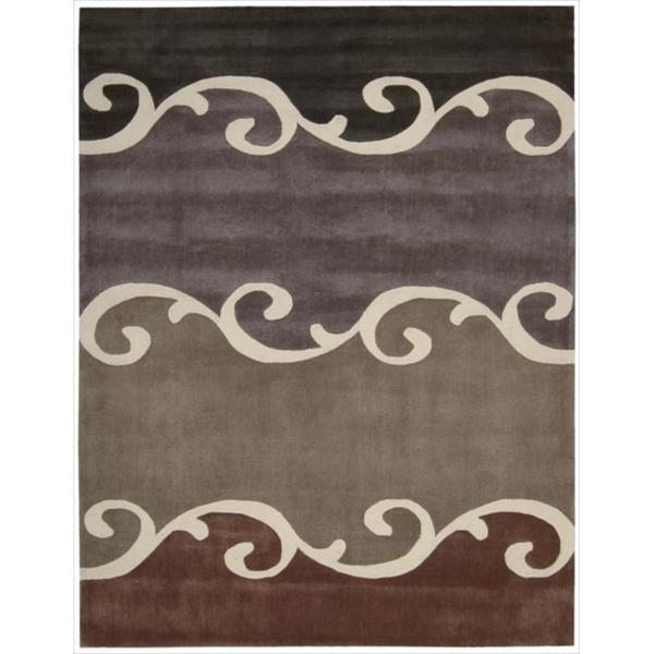Nourison Hand-tufted Contours Mocca Rug (8' x 10'6)