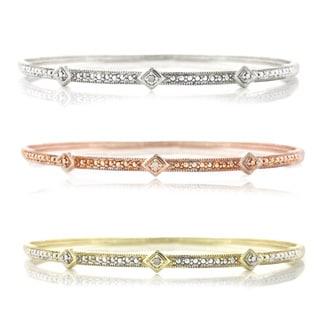 bracelet thread criss cross diamond raised.