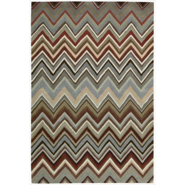 Nourison Hand-tufted Contours Zigzag Multicolor Rug (8' x 10'6)