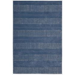 Nourison Hand-tufted Contours Striped Denim Rug (7'3 x 9'3)