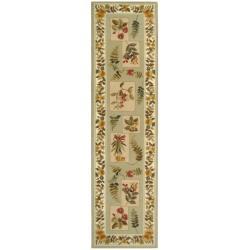 Safavieh Hand-hooked Chelsea Floral Sage Wool Rug (2'6 x 6')