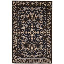 Safavieh Hand-hooked Chelsea Irongate Black Wool Rug (7'6 x 9'9)