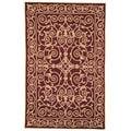 Hand-hooked Chelsea Irongate Burgundy Wool Rug (7'6 x 9'9)