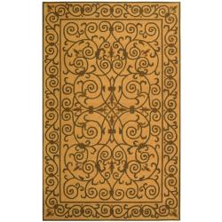 Hand-hooked Chelsea Irongate Yellow Wool Rug (8'9 x 11'9)