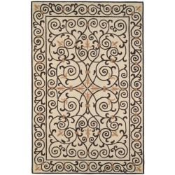 Hand-hooked Chelsea Irongate Ivory Wool Rug (8'9 x 11'9)