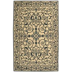 Safavieh Hand-hooked Chelsea Irongate Ivory/ Blue Wool Rug (7'6 x 9'9)
