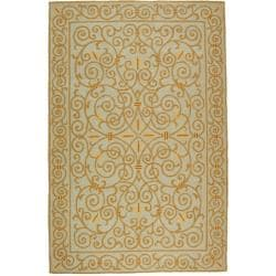 Safavieh Hand-hooked Chelsea Irongate Light Blue Wool Rug (7'6 x 9'9)