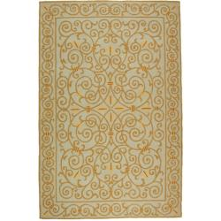 Hand-hooked Chelsea Irongate Light Blue Wool Rug (8'9 x 11'9)