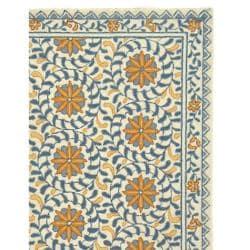 Safavieh Hand-hooked Chelsea Bliss Ivory Wool Rug (6' x 9')