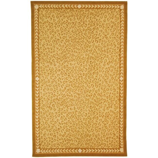 Safavieh Hand-hooked Chelsea Leopard Ivory Wool Rug (5'3 x 8'3)
