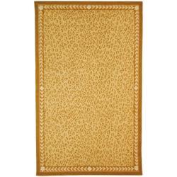 Safavieh Hand-hooked Chelsea Leopard Ivory Wool Rug (6' x 9')